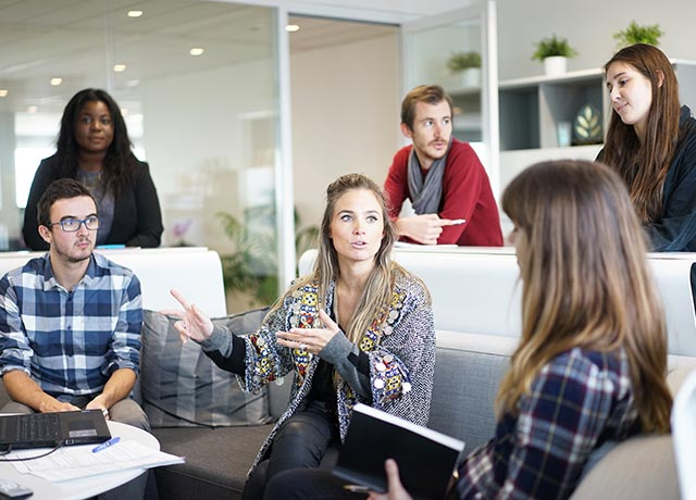 Teambesprechnung in einem Startup