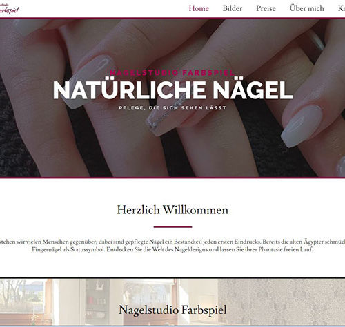 Nagelstudio Farbspiel Screenshot 1
